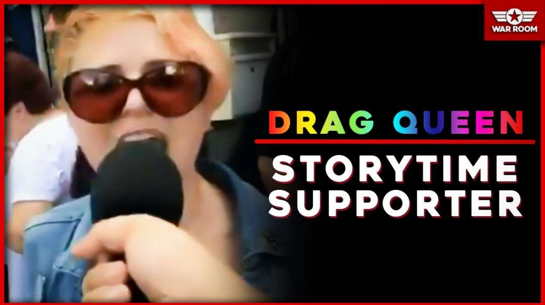 Drag Queen Story Time Supporter Bites Reporters Microphone