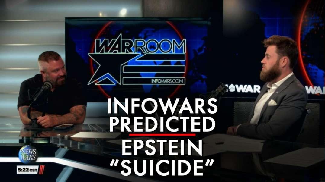 Infowars Predicts Jeffery Epstein Fake Suicide Hours Before It Happens
