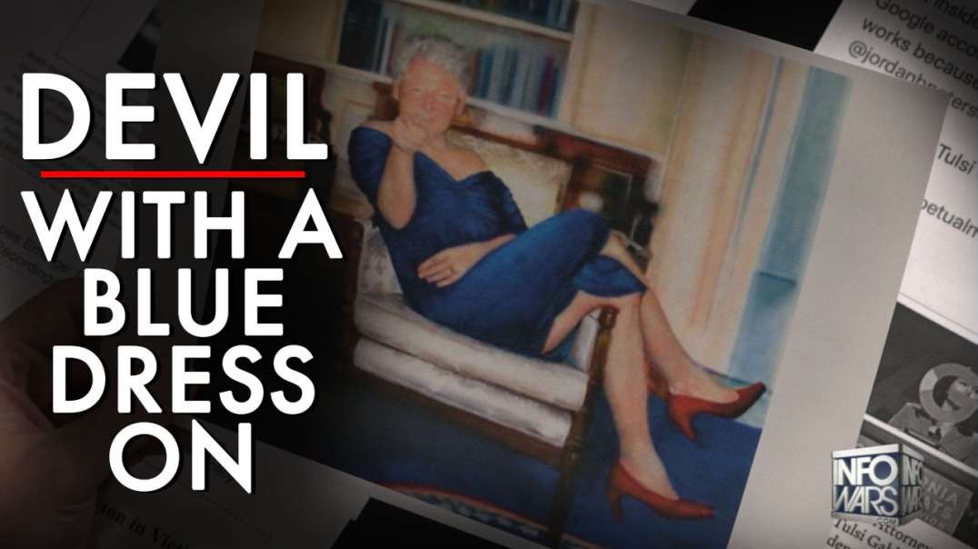 World Elites Are Laughing As Portrait Of Bill Clinton In Blue Dress Goes Public