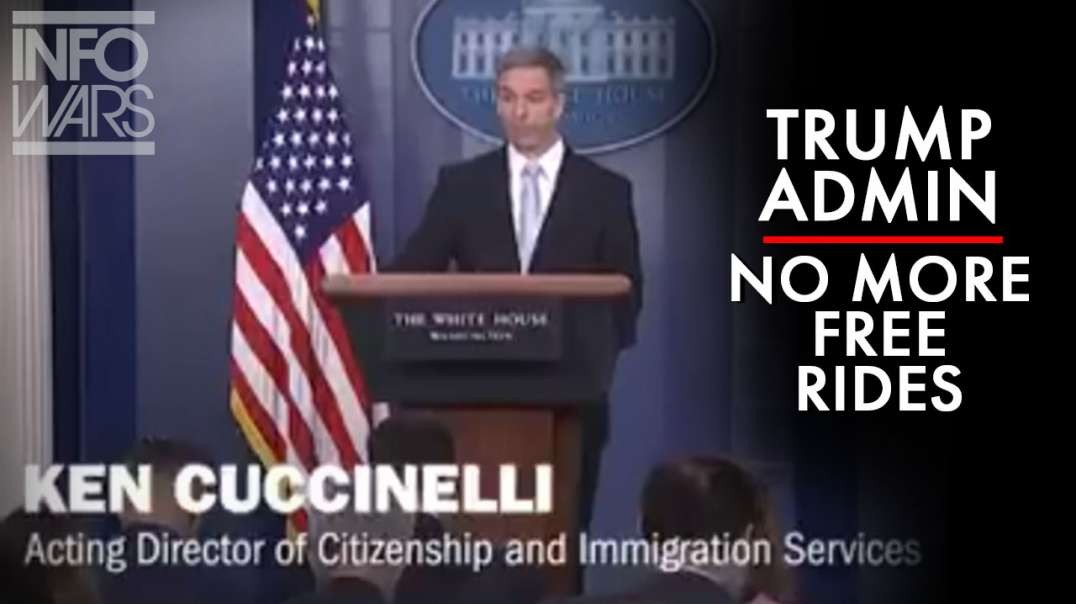 Trump Administration Announces New Policy For Green Cards; No Free Rides.mp4