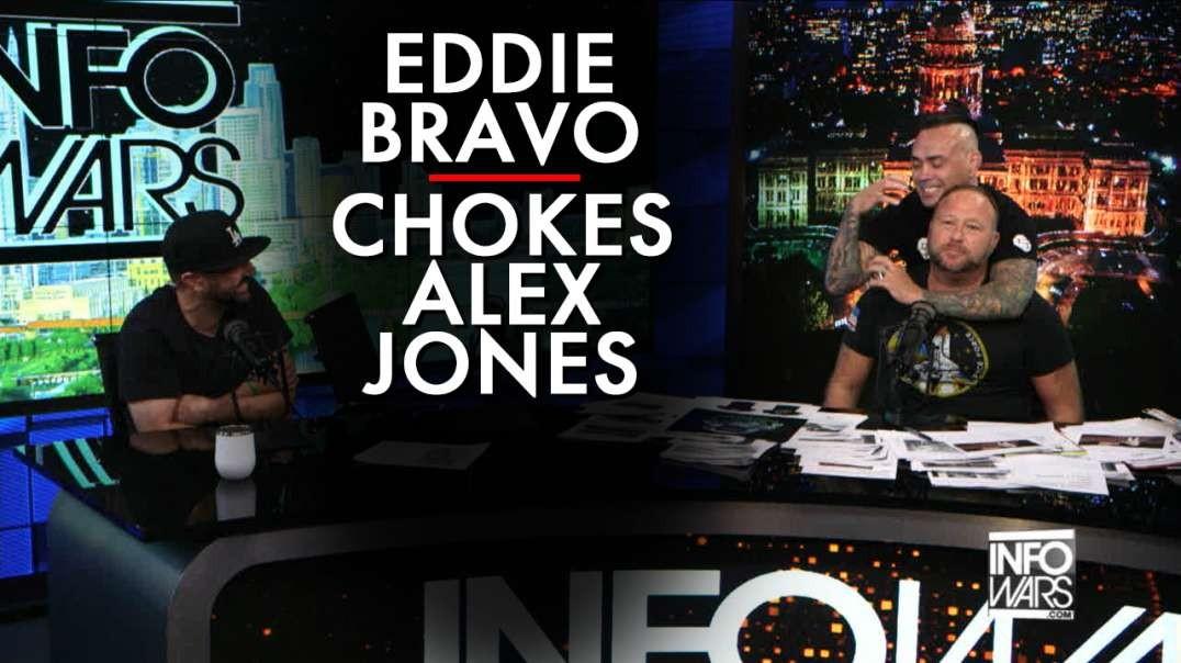 Eddie Bravo Invades Infowars Chokes Out Alex Jones