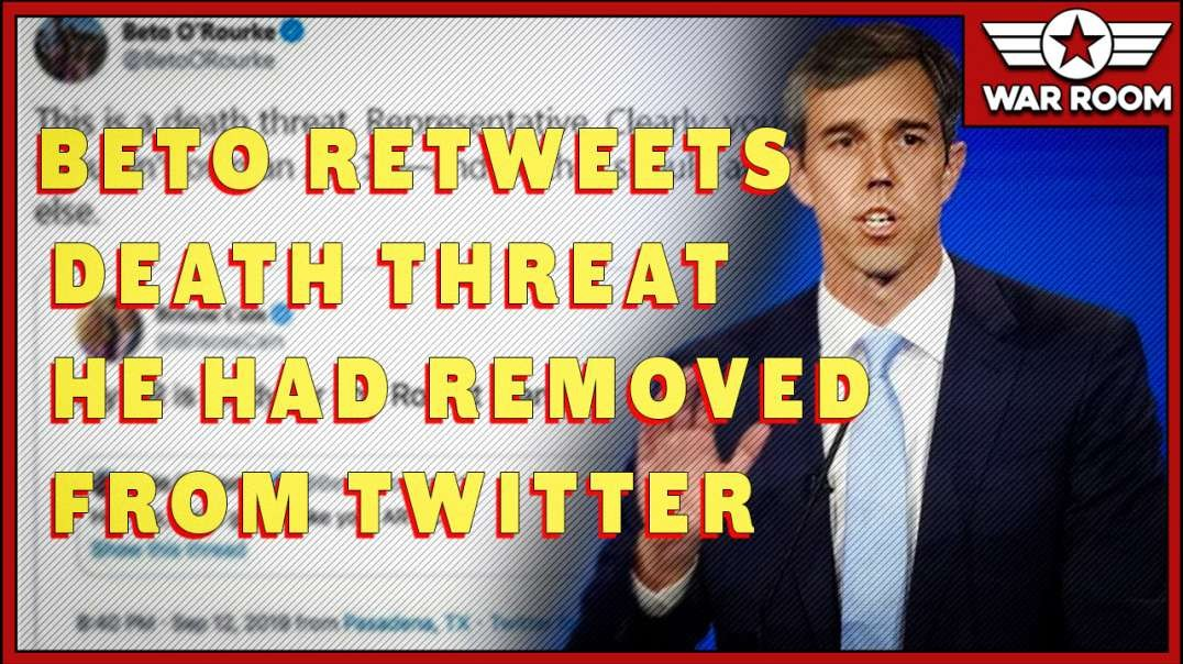 Total Clown World- Beto Retweets Death Threat He Had Removed From Twitter