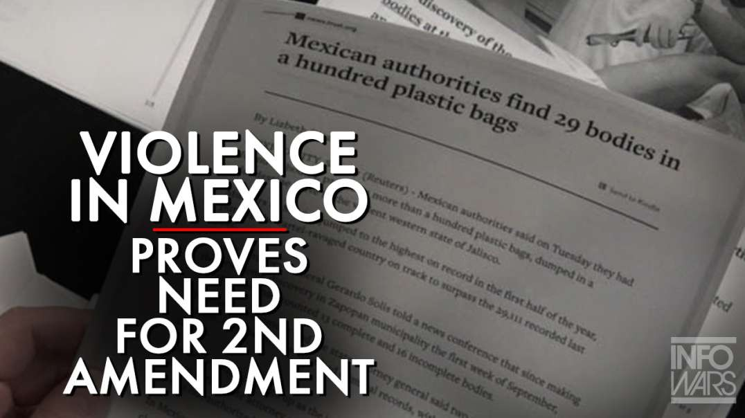 Violence Reaches New Peak In Mexico As Democrats Cry About Guns