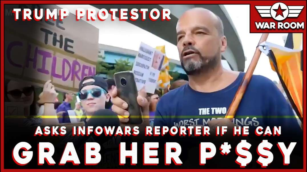 Trump Protestor Asks Infowars Reporter If He Can Grab Her P****
