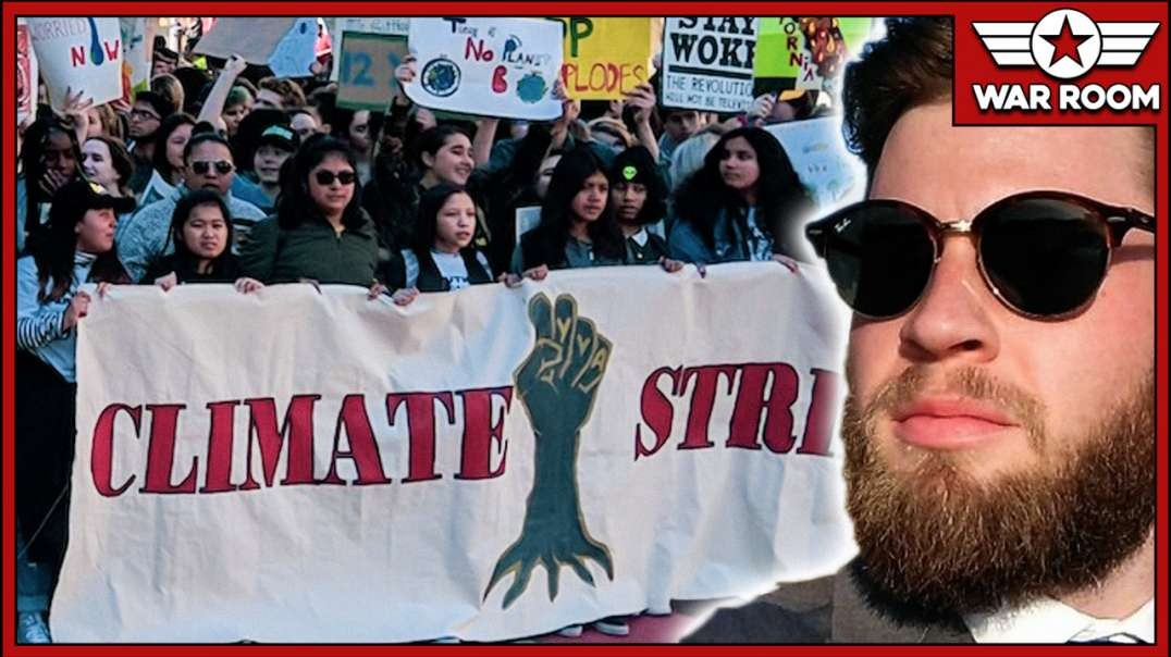 Owen Shroyer Goes Live Inside Of UT Climate Change Protest