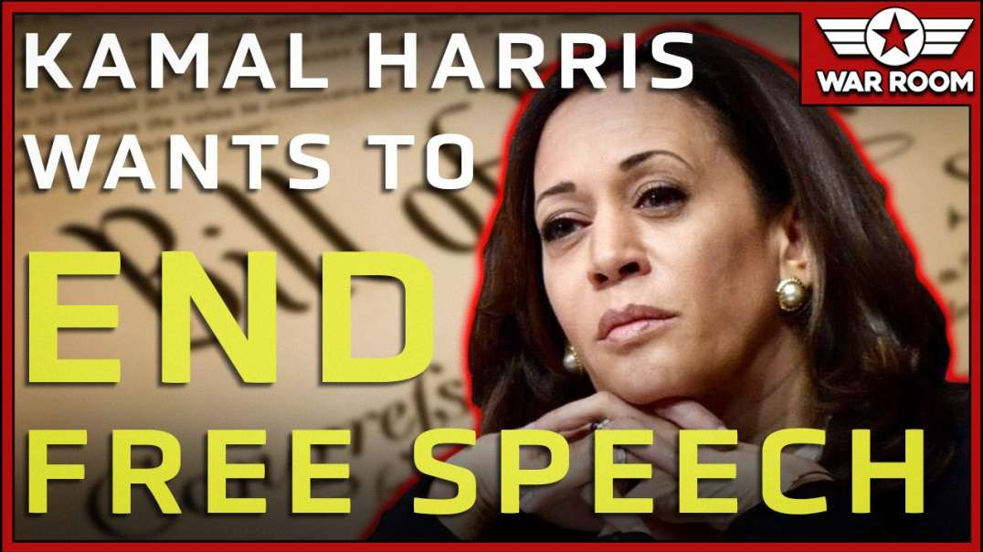 Kamala Harris Calls For The End Of The First Amendment