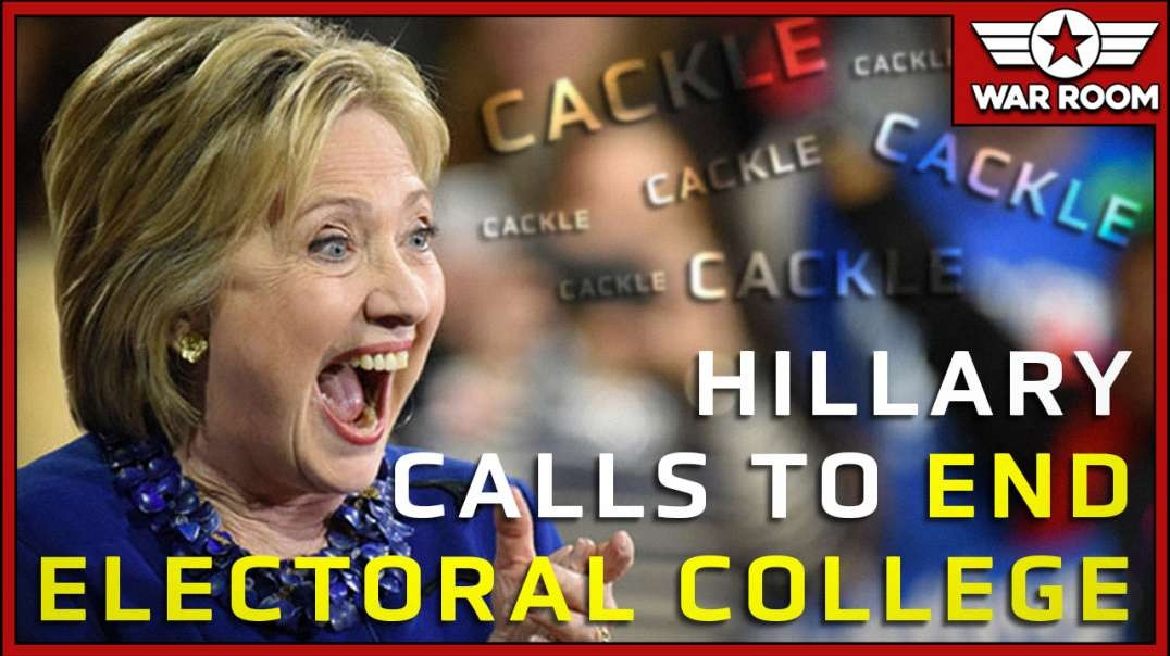 Hillary Clinton Calls To End Electoral College And Cackles Like Evil Witch