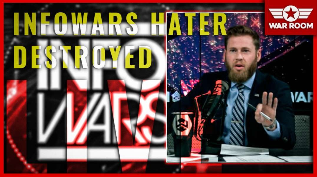Infowars Hater Gets Destroyed By Owen Shroyer Live On Air!