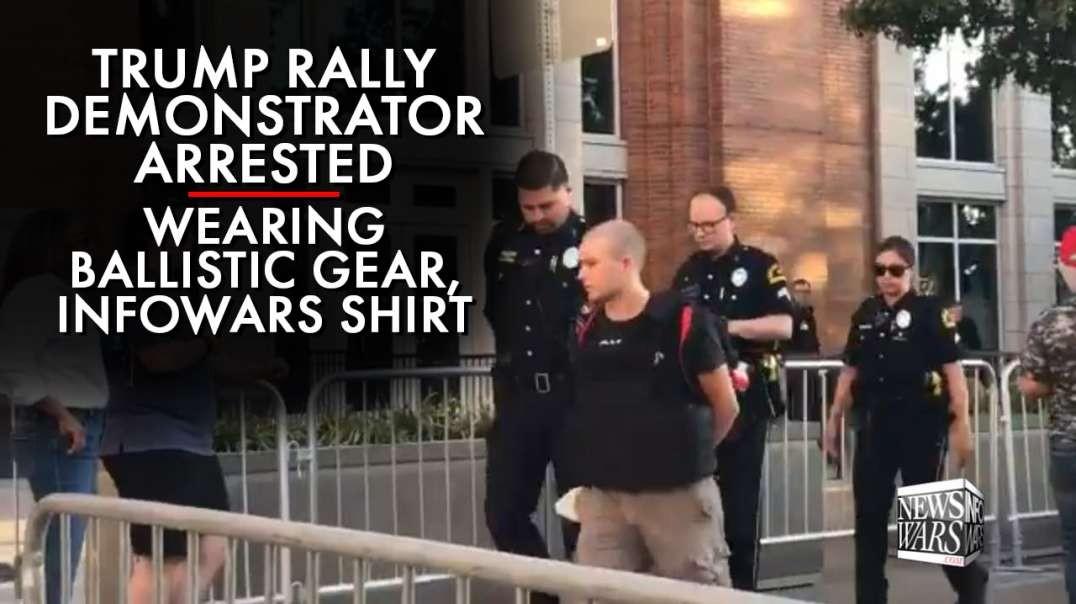 Alex Jones Interviews Armed Man Arrested At Trump Rally