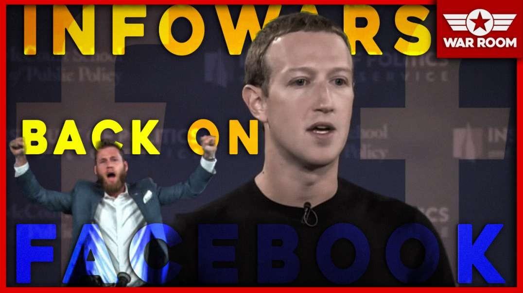 Mark Zuckerberg Says He Will Allow Infowars Back On Facebook