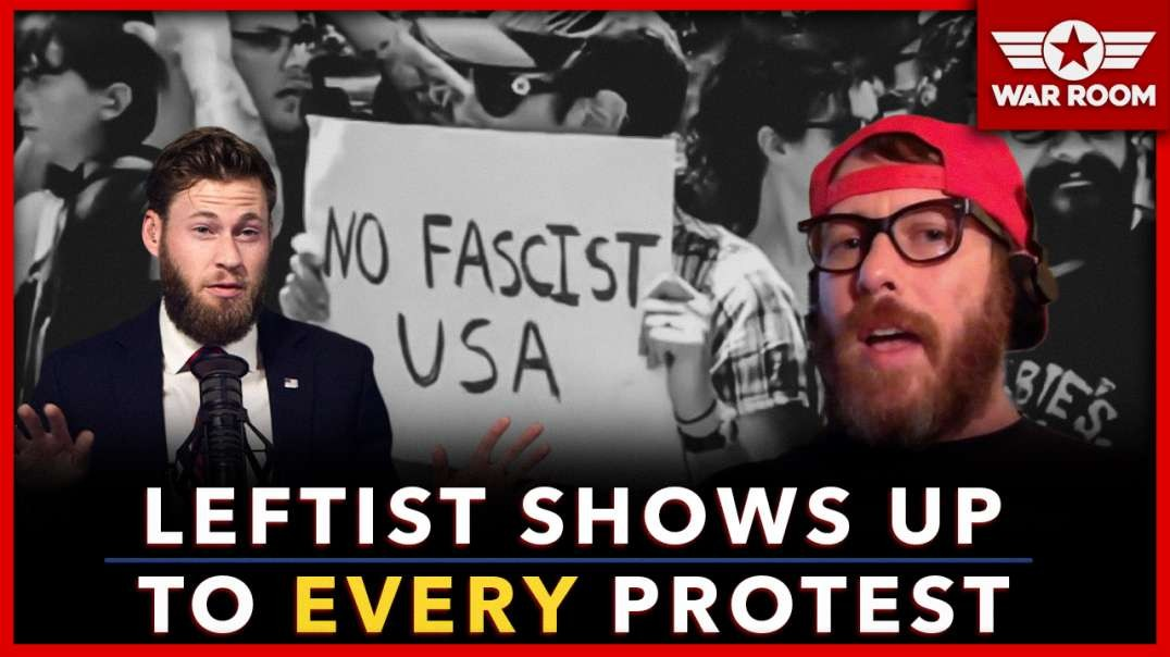 Discovered: Same Deranged Leftist Protester Shows Up At Every Event