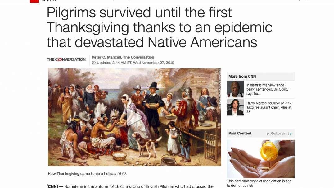 CNN Pushes Pilgrims-Genocide-Of-Indians Lie