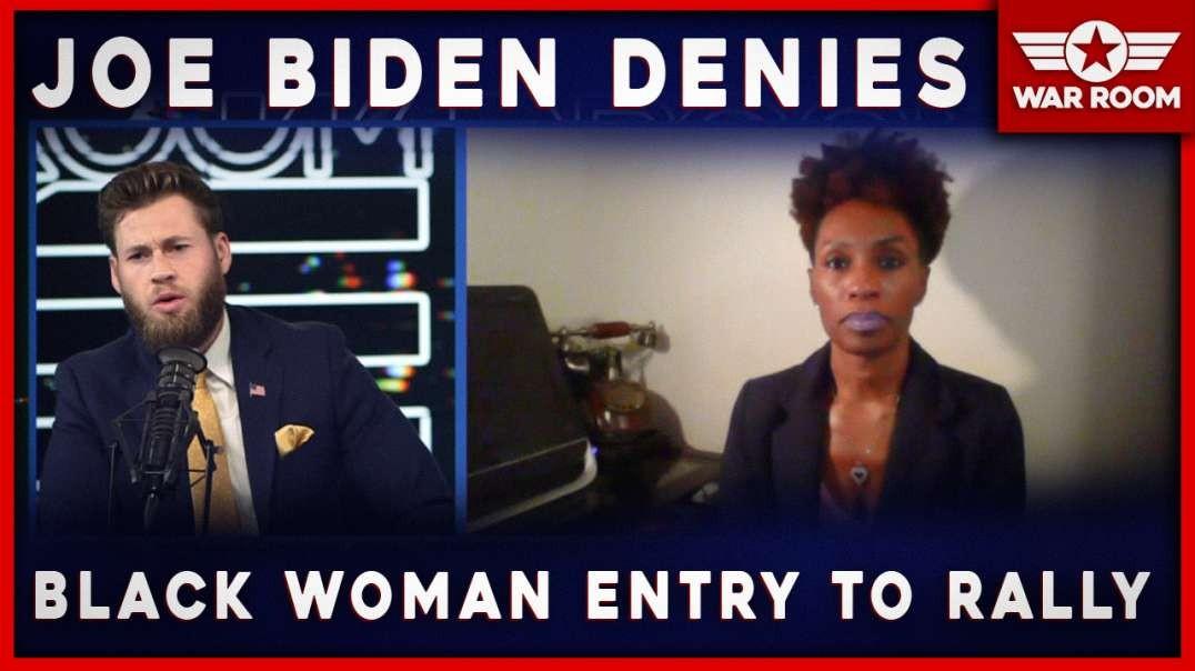 Joe Biden Denies Entry Of Black Woman At Campaign Rally