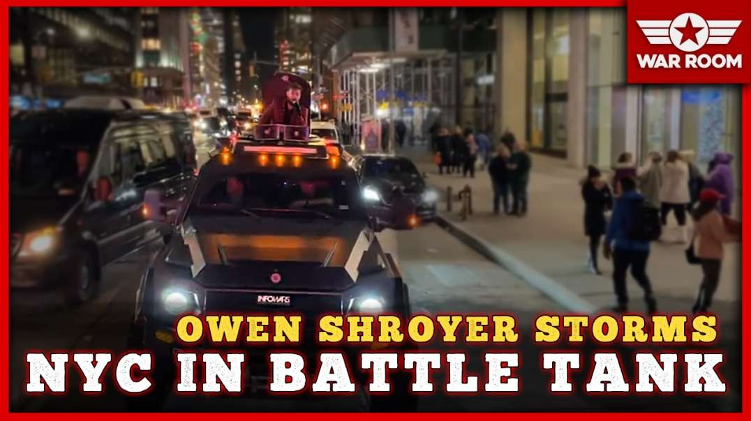 Owen Storms New York City In The Bad Ass Battle Tank