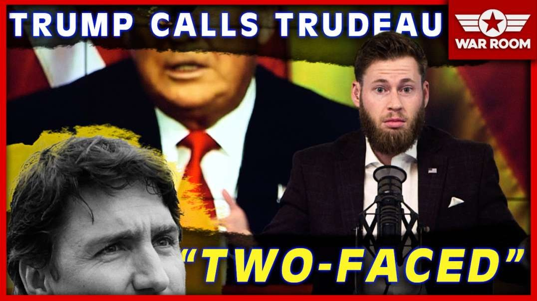 "President Trump Calls Justin Trudeau ""Two Faced"" After Hot Mic Video Goes Viral"
