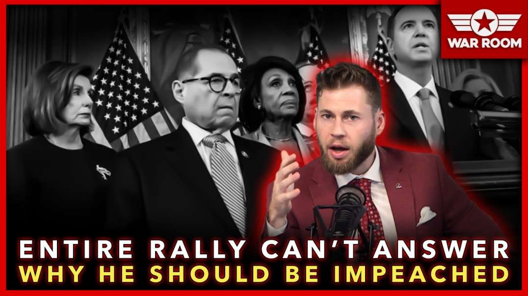 Entire Impeach Trump Rally Can't Answer Why He Should Be Impeached!