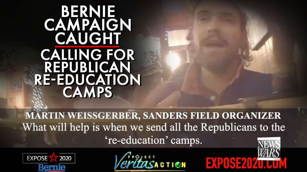 Another Bernie Campaign Organizer Caught Calling For Republican Re-education Camps