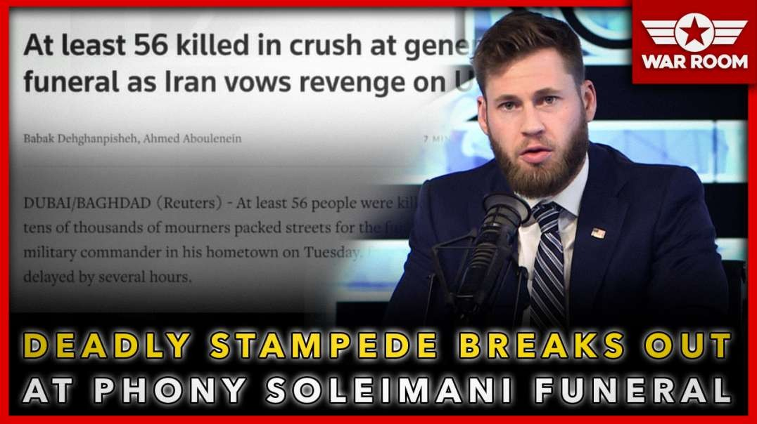 Deadly Stampede Breaks Out At Phony Soleimani Funeral!