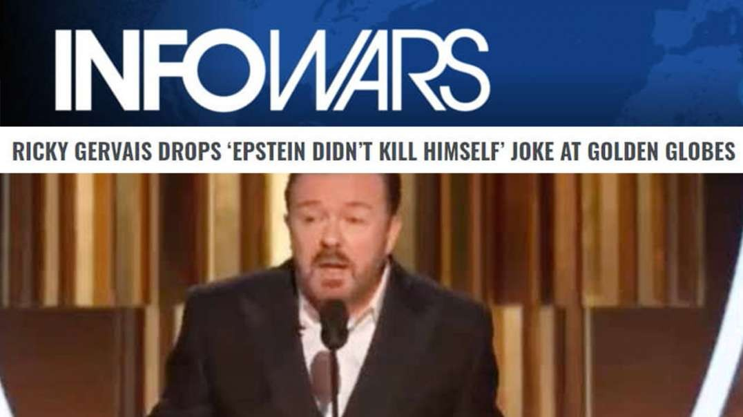 Ricky Gervais Calls Out Hollywood Pedophile Predators At Golden Globes