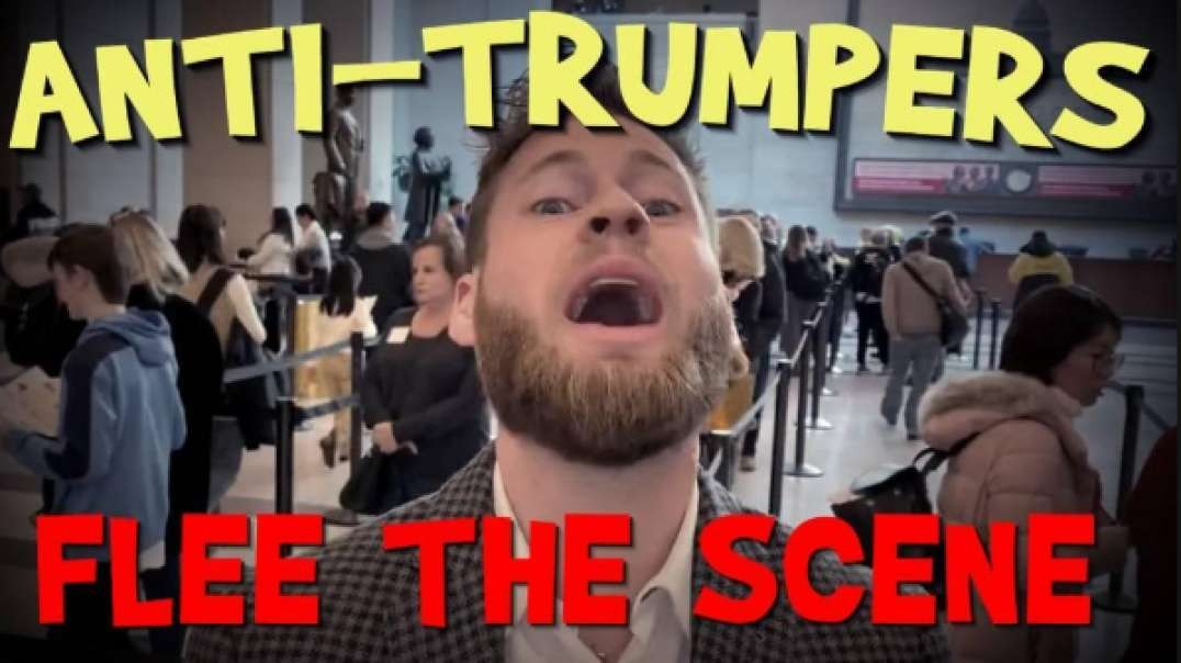 Anti-Trumpers Flee The Scene in D.C.