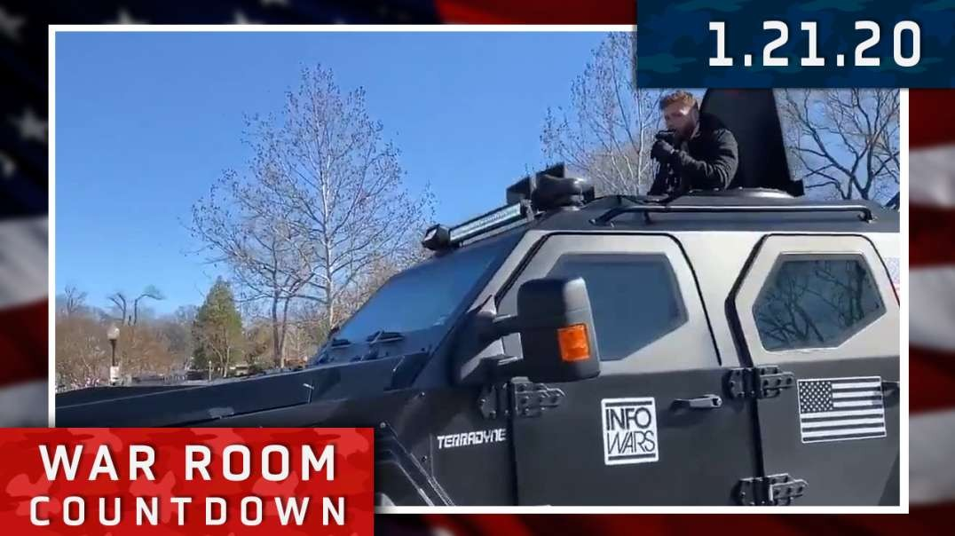 Countdown: Owen Spreads Red Pills From The Infowars Battle Tank