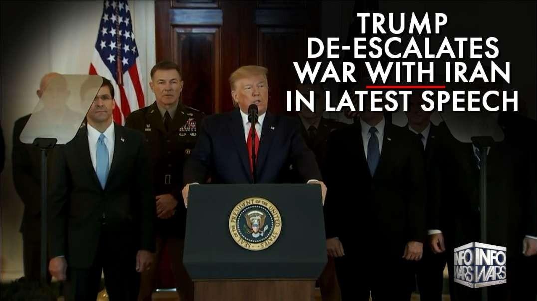 Trump De-Escalates War With Iran In Latest Speech