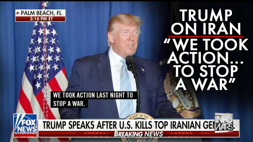 Trump Statement On Iran- We Took Action Against Iran To Stop War