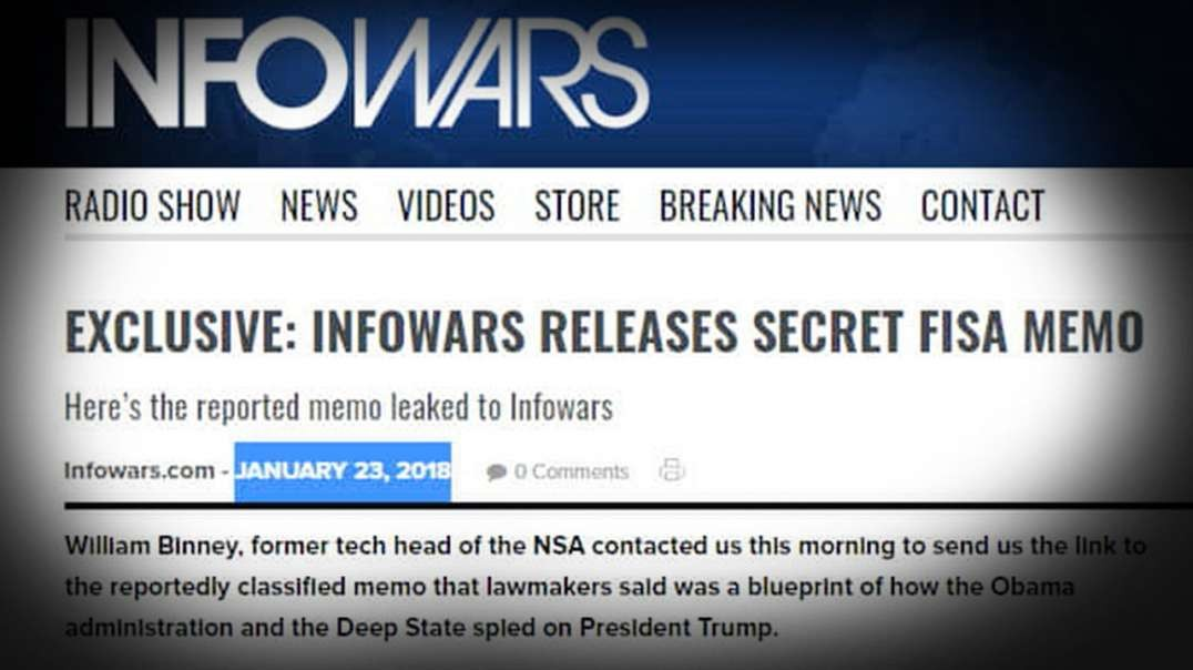 Impeachment Defense Addresses Secret Fisa Memo Exposed By Infowars
