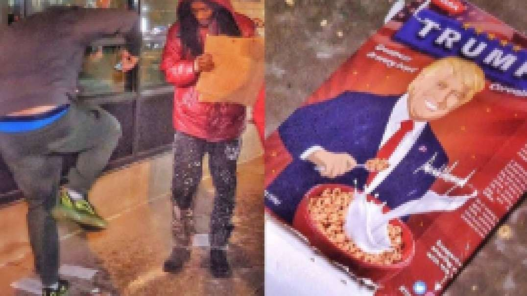 Dem vs Trump Cereal Box
