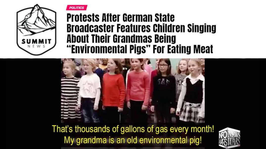 German Grandmas Protest Against Their Grandkids Being Indoctrinated To Hate Them