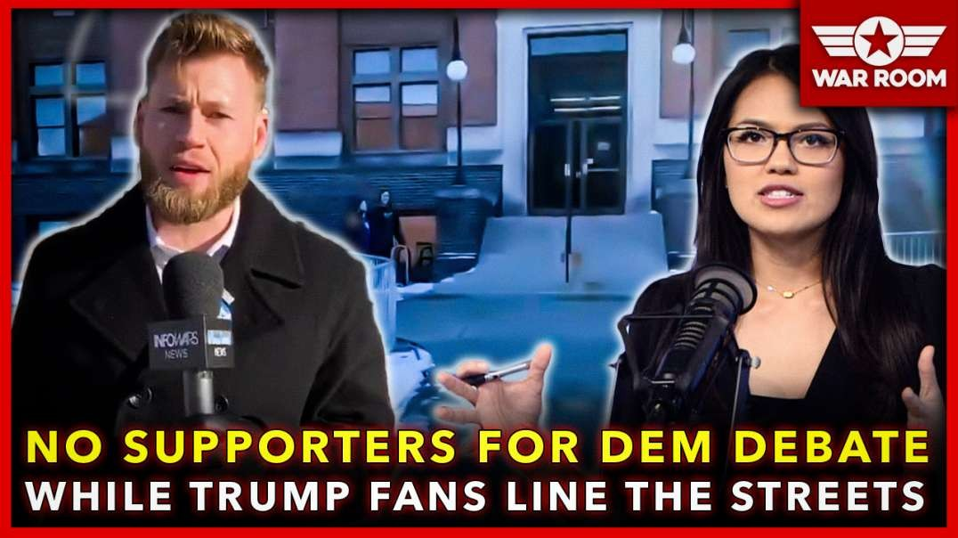 No Supporters For Democrat Debates While Trump Fans Line The Streets