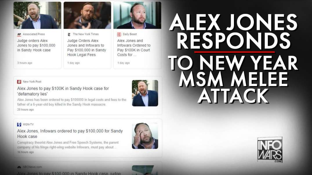 Alex Jones Responds To MSM New Year Melee Attack