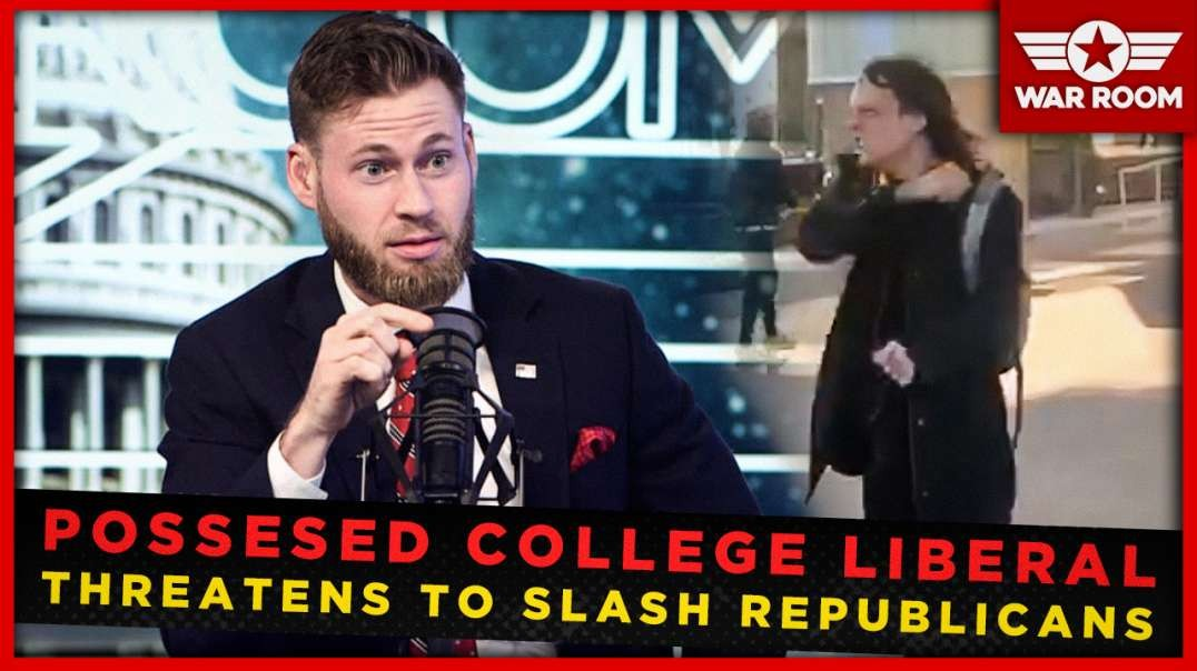 Just Like Pelosi: Demon Possessed College Liberal Threatens To Slash Republicans Throats