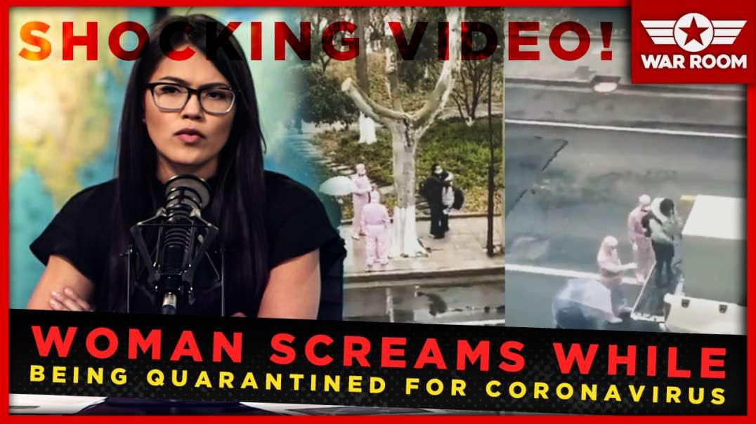 Shock Video: Woman Screams As Coronavirus Quarantine Happens In The Streets Of China