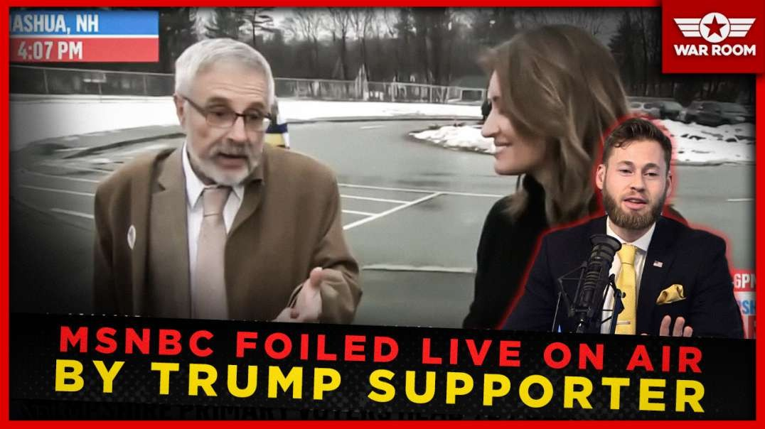 MSNBC Foiled Live On Air By Trump Supporter