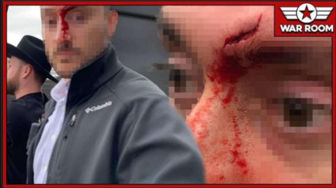 Journalist & Crew Attacked By Violent Bernie Mob