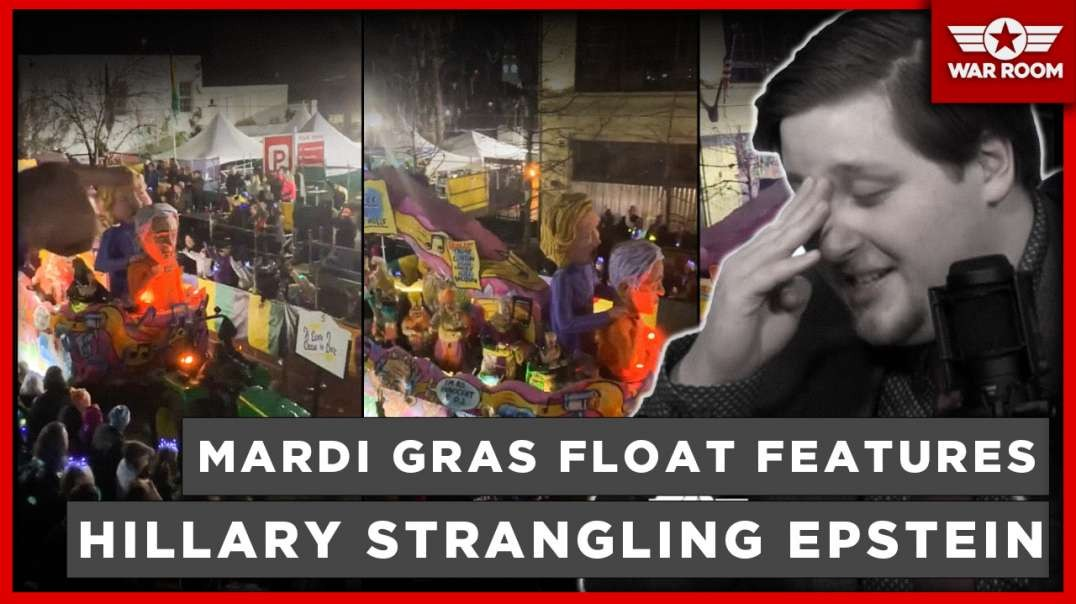 Mardi Gras Float Features Hillary Clinton Strangling Jeffrey Epstein