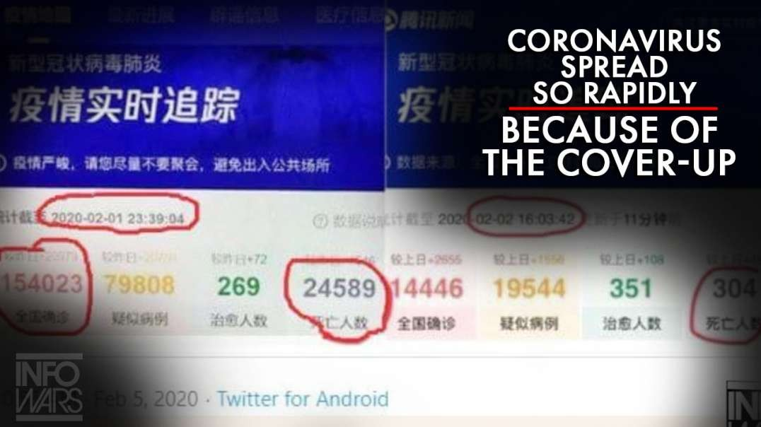 Coronavirus Spread So Rapidly In China Because Of The Cover-Up