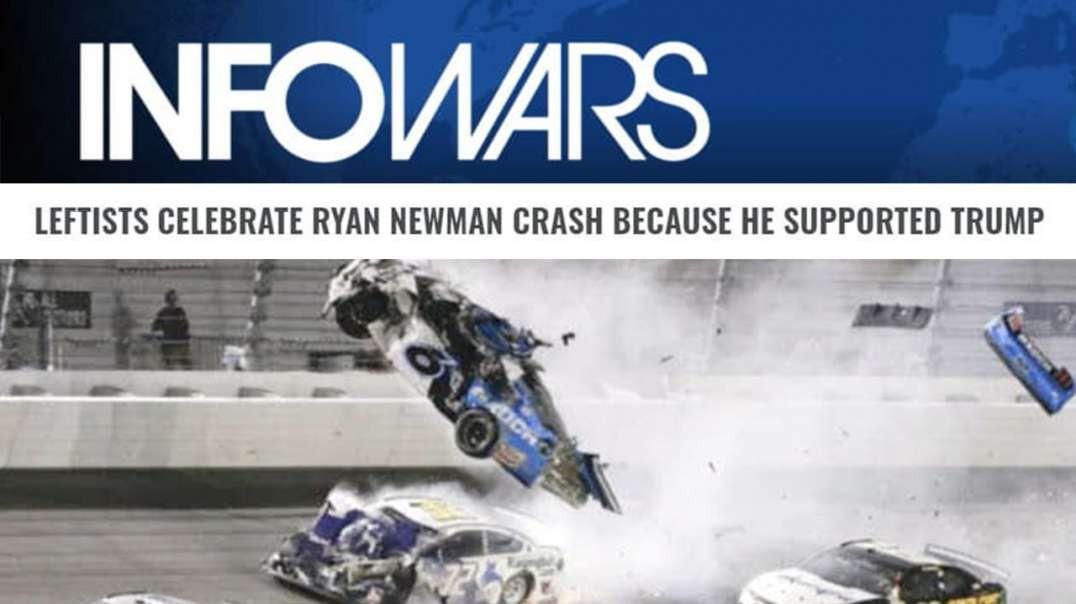 VIDEO: Leftists Celebrate Newman's Fiery Daytona Crash