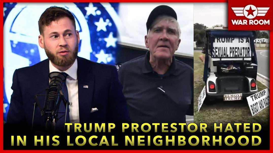 F*ck You A**hole - Trump Protestor Hated In His Local Neighborhood