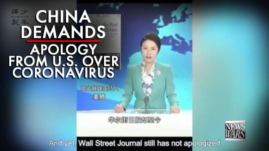 VIDEO: China Demands Apology From U.S. Over Coronavirus