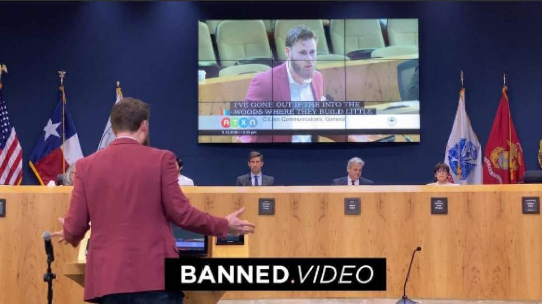 Owen Shroyer Scolds Austin City Council On Homeless Invasion And Infrastructure Collapse