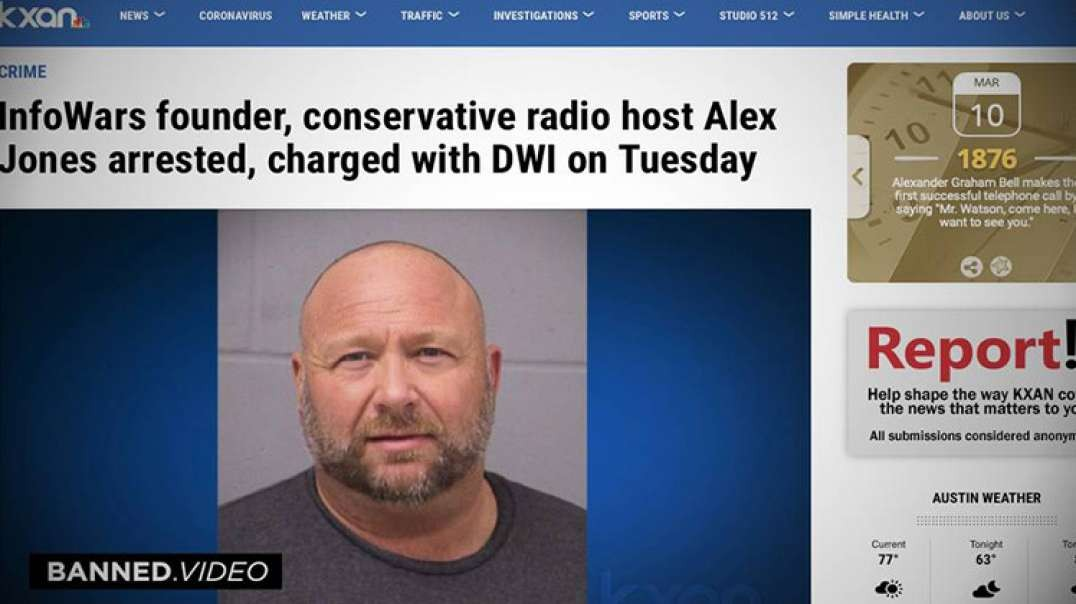 Alex Jones Issues Statement On DWI Arrest