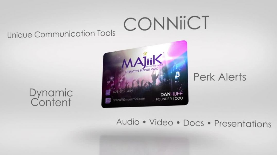 CONNiiCT Interactive Business Card | MAJiiK Interactive Media