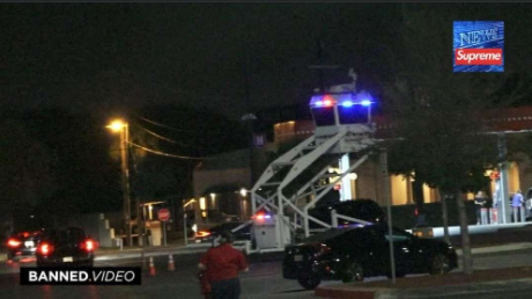 Police Command Tower Deployed At South Texas HEB