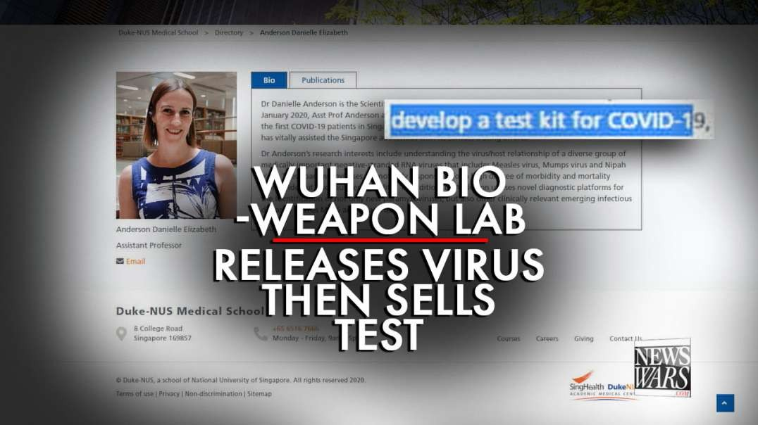 Wuhan Bioweapons Lab Released Virus, Then Sold Test to the World