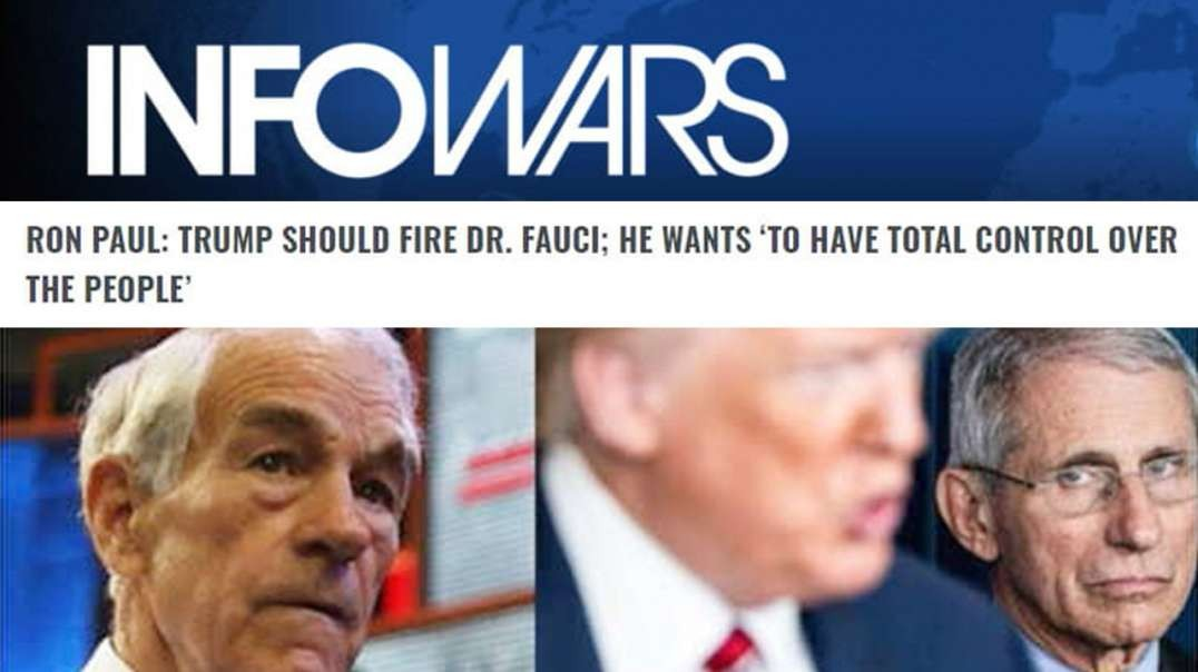 VIDEO: Learn Why Trump Will Fire Fauci