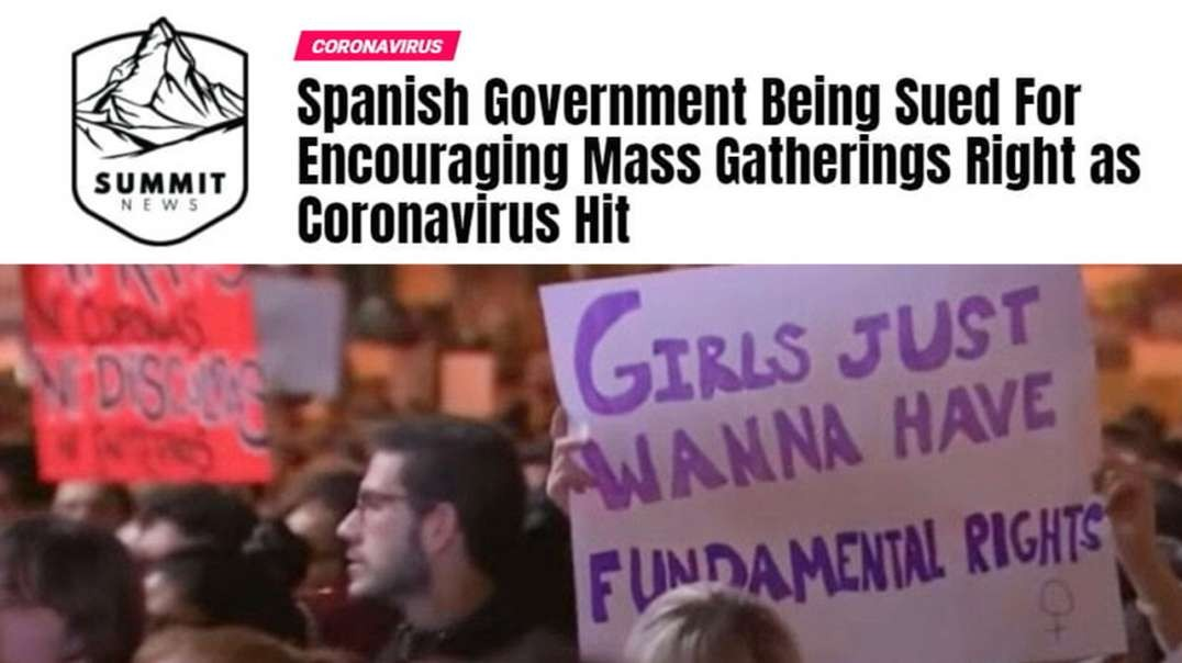 Spanish Government Sued For Encouraging Mass Feminist Gathering