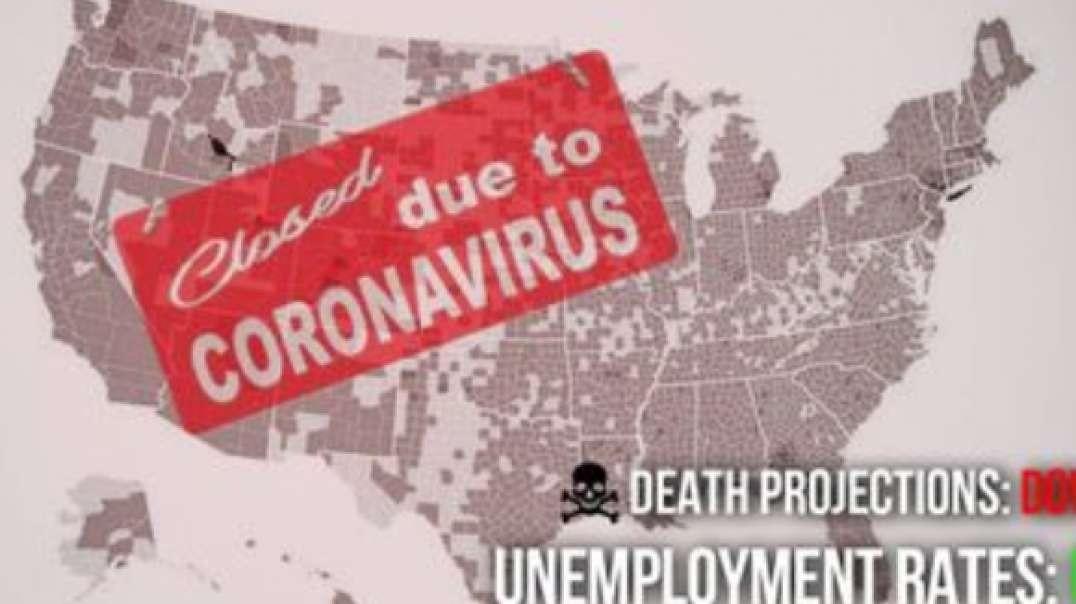 Death Projections Drop -- Unemployment Lines Grow