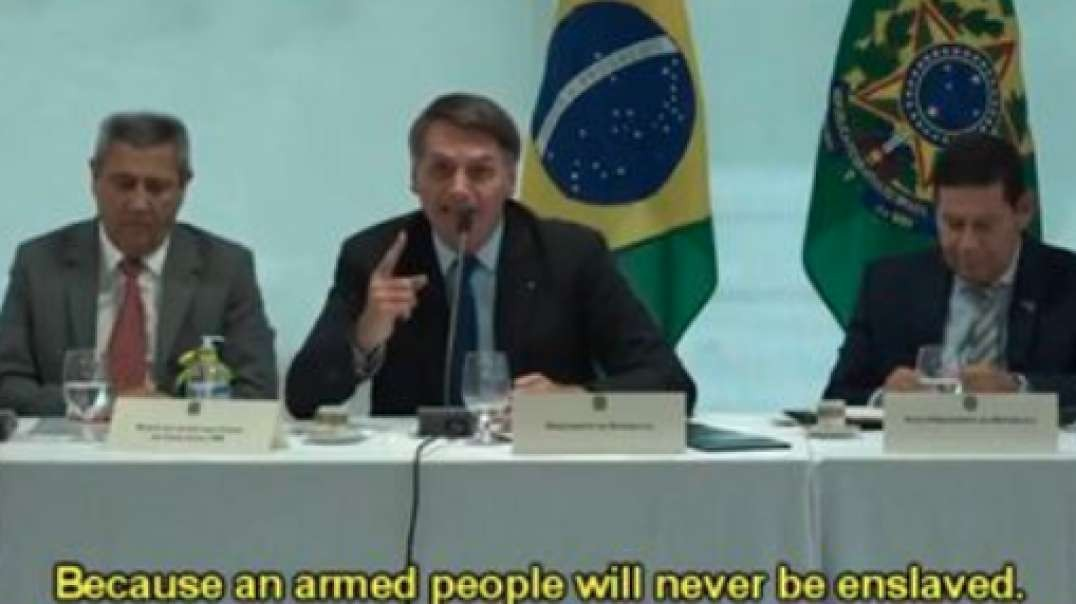 VIDEO: Brazilian President Says Lockdown Is Communist Plot To Enslave The People